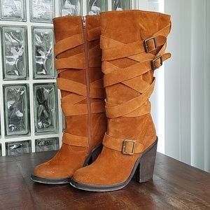 Jeffrey Campbell Suede Mission Boot